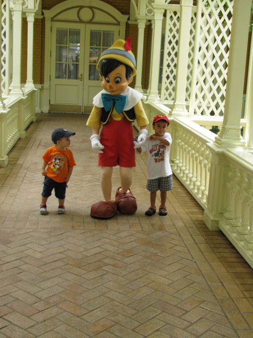 "Pinochio challenged Zeke and Nate to a race: ""On your Mark...get set...Go!"